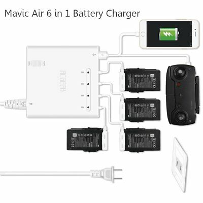 RDtech Mavic Air Battery Charger, 6-in-1 Rapid Parallel Battery Charging Hub