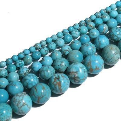 Wholesale 100% Real Natural Turquoise Gemstone Spacer Loose Beads Charms Jewelry