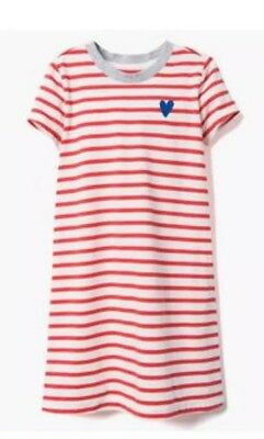 NWT Gymboree ALL SMILES Girls Red White Stripe Heart Dress L 10 12