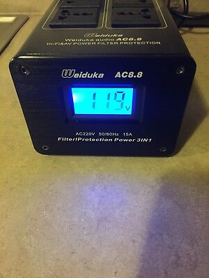 Weiduka AC8.8 10 Way Hi End Mains Audio Power Purifier Filter protection 3 in 1