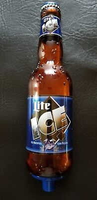 """RARE MILLER LITE ICE BEER BOTTLE Large 9"""" Tap Handle COLLECTIBLE!"""