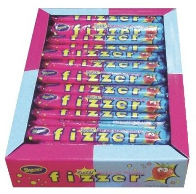 72 x BEACON FIZZER SOUR STRAWBERRY CHEWY FIZZY INDIVIDUALLY WRAPPED LOLLIES