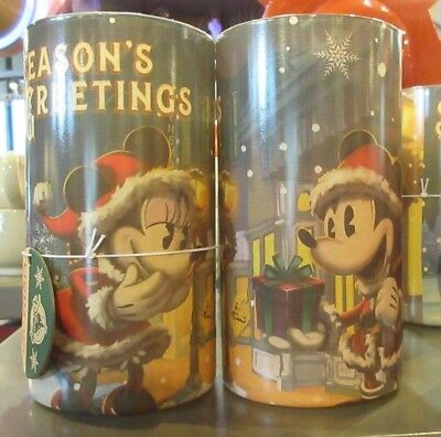 Disney Parks Turn of the Century Santa Mickey Minnie Holiday Light-UP Candle New
