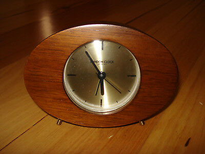 London Clock Company Asta Solid Wood Silent Alarm Clock. As New