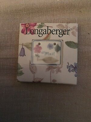 Longaberger Botanical Fields Mail Tie On - NIB