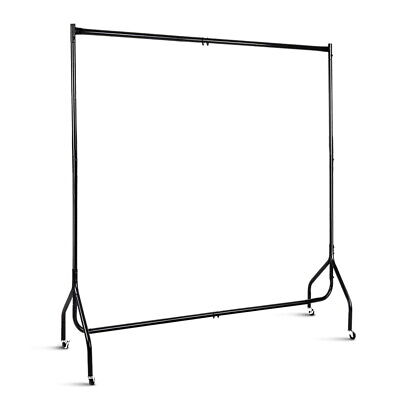 6FT Clothes Racks Metal Garment Display Rolling Rail Hanger Airer Stand Portable