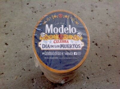 Modelo Dia Los Murtos Beer Coasters. 100 Pack Free Shipping. Day Of The Dead ~~|