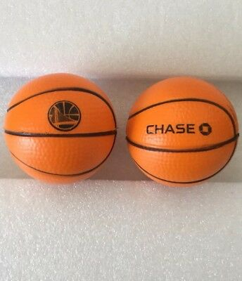 New! Set of 2 Chase Bank ~ Golden State Warriors Logo Mini Foam Basketballs