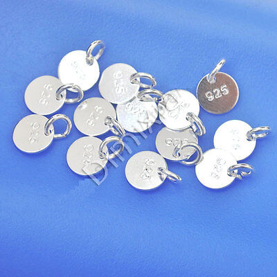 5x 925 Sterling Silver Flat Component Finding Jump Split Ring Stamp Necklace Etc