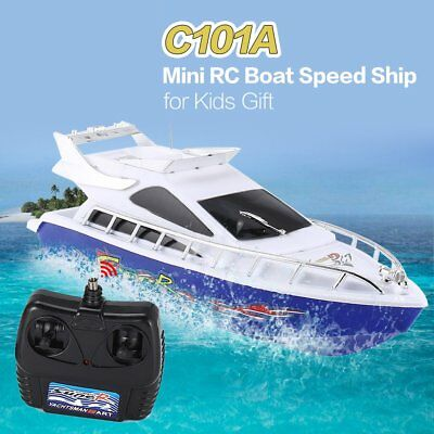 C101A Mini Radio Remote Control RC Racing Boat Speed Ship for Kids Gift Model ZD