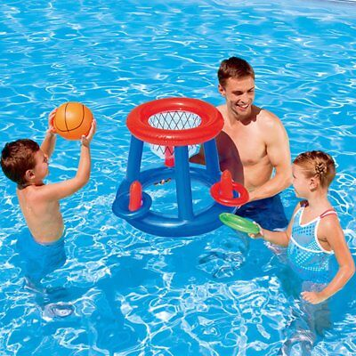 Water Basketball Hoop Pool Float Inflatable Swimming Pool Toy for Children ZD