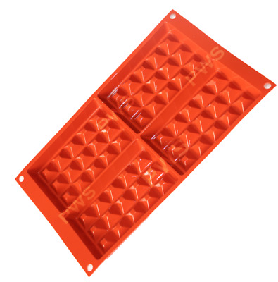 4 WAFFEL STAMPO SILICONE STAMPI FORME FORMINE per WAFFLE SILIKOMART GAUFRE