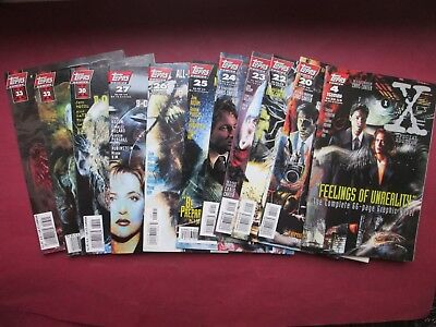 X Files Lot 11 Comics Topps # 20.22.23.24.25.26.27.30.32.33/# 4 Special Edition
