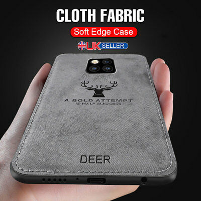 For Huawei Mate 20 P20 Pro Cloth Texture Case Soft TPU Bumper Shockproof Cover