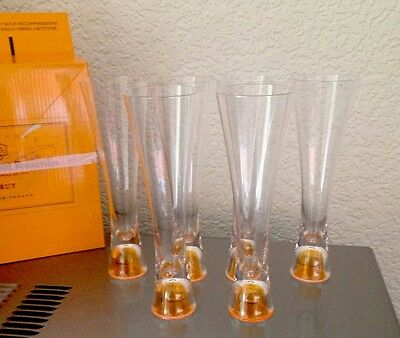 Veuve Clicquot Champagne Trendy Outdoor Flutes X 6 Unboxed Acrylic Not Glass!!!
