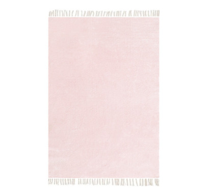 Chenille Teppich 100x135cm Rosa Pastell Pink Shabby Baumwolle