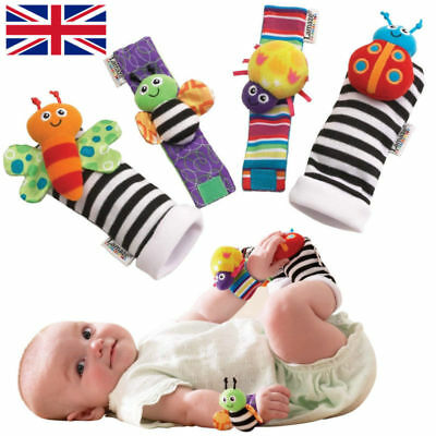 Lamaze Rattle Set Baby Sensory Toys Foot-finder Socks Wrist Rattles Bracelet
