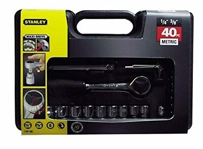 Stanley Socket set 40PC MET.1/4&3/8Sd  1 87 192