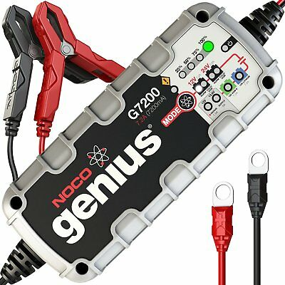 Noco Genius Battery Charger G7200UK 12/24V 7.2A Lithium Compatible UK Plug