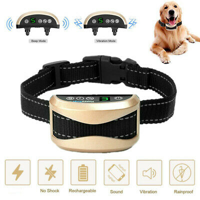 2018 Upgrade Auto Anti Bark Collar - Rechargeable Dog Barking Control Collars
