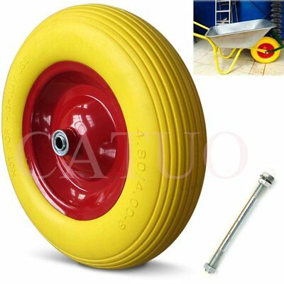 "1/2 PU 15"" 4.80-8 4.00-8 Tyre Wheel Puncture Proof Solid Wheelbarrow Trolley"