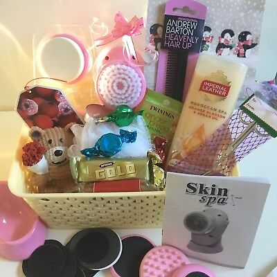 WOMENS BIRTHDAY GIFT HAMPER Christmas For Her MUM WIFE With Bear SPA CARD
