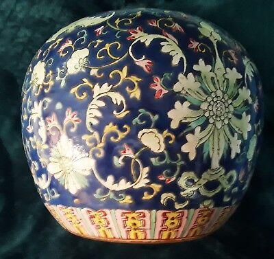 Chinese ginger jar.porcelain over enamel with original cover antique original