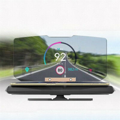 Car Folding GPS HUD Holder Head Up Display Projector Bracket-Navigation Phone A