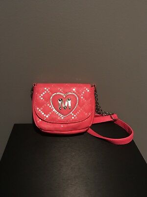 Justice Girls Pink Flip Sequin Purse with Initial M & Phone/wallet Case In H