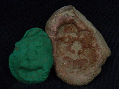 Ancient Teracotta Seal Roman C.200 BC #TR7667