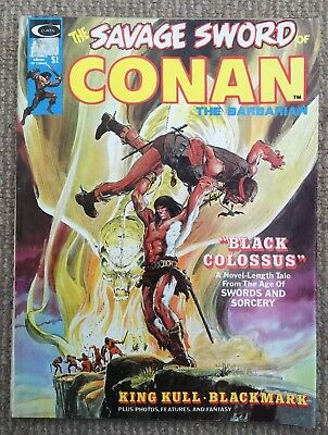 The Savage Sword Of Conan The Barbarian Comic October 1974 No 2 Good Condition.