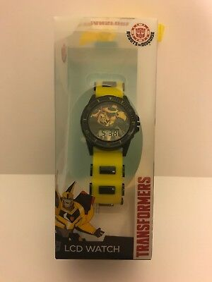 Transformers LCD KIDS ROBOTS IN DISGUISE Watch (NEW) Bumble Bee