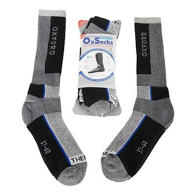 Oxford Motorcycle Thermal Long Socks - Large (Uk Sizes 9 - 14) (Of811)