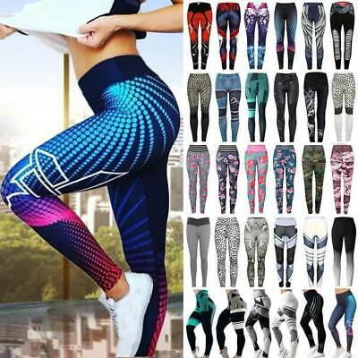 Women's High Waist Yoga Pants Leggings Print Sports Fitness Stretch Trousers G70