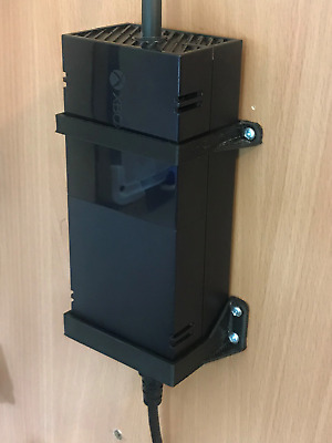 XBOX ONE Power Brick / Supply Wall Mount Bracket In Black