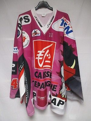 Maillot hockey GOTHIQUES AMIENS n°24 2009 rose Ligue Magnus shirt jersey XL