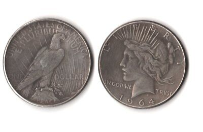 Fantasy Issue Novelty Magic Trick Coin 1964 D Toned Peace Dollar