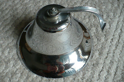 "Vintage Perko Fog  8"" Chrome Plated Brass Bell Ship Boat Nautical"