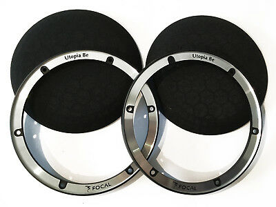 FOCAL UTOPIA BE COPPIA GRIGLIE ALTOPARLANTI 16,5cm 165mm PER KIT UTOPIA
