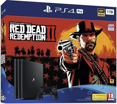 SONY PlayStation 4 Pro with Red Dead Redemption 2 - 1 TB - Currys