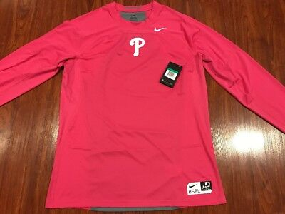f095dc0f6 Nike Men s Philadelphia Phillies Pro Hypercool Fitted Jersey Shirt XL Pink  MLB