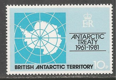 British Antarctic Territory #82 (A10) VF MNH - 1981 10p Map of Antarctic
