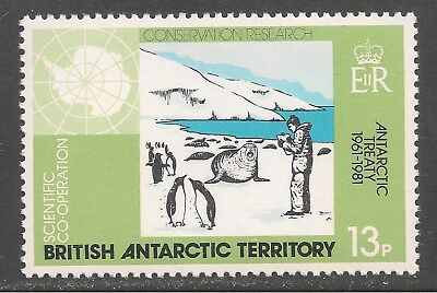 British Antarctic Territory #83 (A10) VF MNH - 1981 13p Conservation Research
