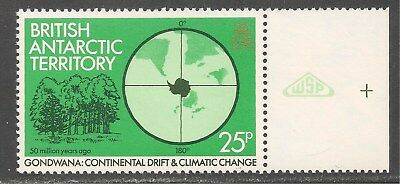 British Antarctic Territory #90 (A11) VF MNH - 1982 25p Trees / Climate Change