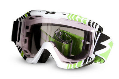 ProGrip 3450/14 Top Line Green White Light Sensitive Motocross Off Road Goggle