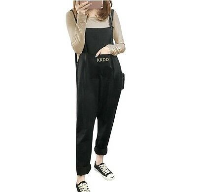 Women Maternity Jumpsuit Pants Overalls Pregnancy Bib Loose Harem Trousers