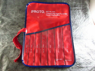 New Vintage Proto 2431 Vinyl Pouch For 96A 7 PC 3/32 To 3/8 Drift Punch Set