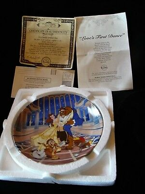 Knowles Walt Disney Beauty and the Beast Love's First Dance Plate No Reserve