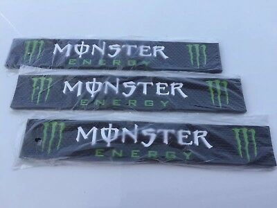 "MONSTER Energy Drink Rubber Bar Rail Spill Mat Combo 3 Mats NEW 21"" Free  Ship"