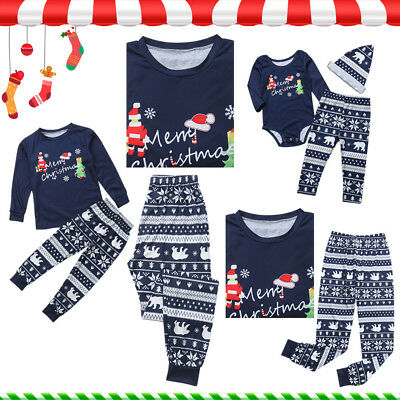 Family Christmas Pajama Matching Clothes Mother Daughter Clothes New Year Xmas